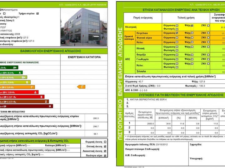 Ενεργειακό πιστοποιητικό και στα ενοίκια από 9 Ιουλίου